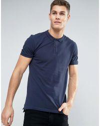 Minimum - Zane Pique Logo Polo Slim Fit In Navy - Lyst