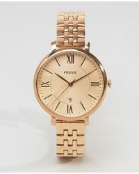 Fossil - Rose Gold Jacqueline Watch - Lyst