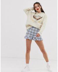 fe410d3a07 TOPSHOP. Daisy Street - Flippy Skirt In Check - Lyst
