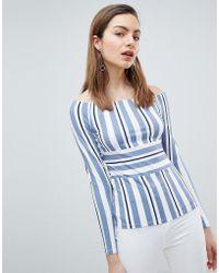 Ivyrevel - Bardot Top In Stripe - Lyst