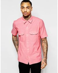 American Apparel - Short Sleeve Chambray Shirt In Regular Fit - Lyst