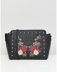 Park Lane - Embroidered Floral Across Body Bag - Lyst