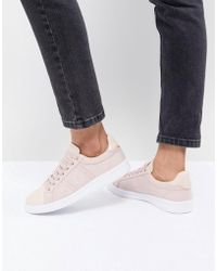 Fred Perry - Lace Up Sneakers With Patent Trim - Lyst