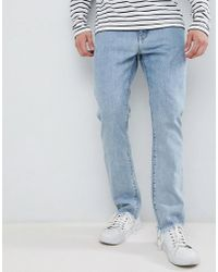 Weekday - Sharp Slim Rigid Fit Jeans Lagoon Blue Wash - Lyst