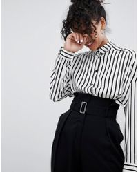 Monki - Belt Detail Tailored Trousers - Lyst