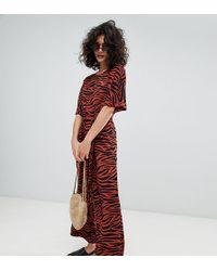 Monki - Tiger Print Jumpsuit - Lyst