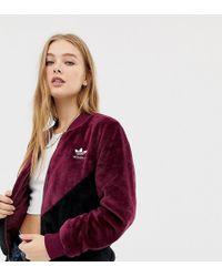 adidas Originals - Og Track Jacket In Maroon Borg - Lyst