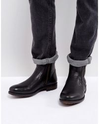 Steve Madden - Lydon Leather Zip Boots In Black - Lyst