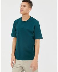 ASOS - Loose Fit Heavyweight T-shirt In Dark Green - Lyst
