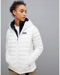 Patagonia - Down Jumper Hoody Jacket In White - Lyst