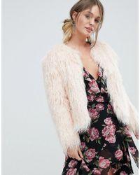 Miss Selfridge | Mongolian Faux Fur Coat | Lyst