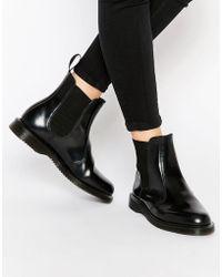 Dr. Martens - Kensington Flora Black Chelsea Boots - Lyst