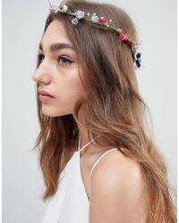 ASOS - Design Pretty Spring Floral Garland Headband - Lyst
