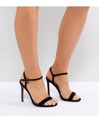 DESIGN Hands Down Extra Wide Fit Barely There Heeled Sandals - Black Asos Outlet Low Price Fee Shipping YnO1L