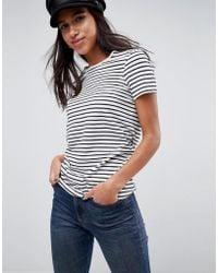 ASOS DESIGN - Asos Stripe Crew Neck T-shirt - Lyst