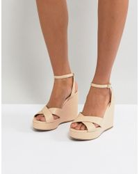 Miss Kg | Strappy High Wedge Sandal | Lyst
