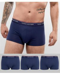 Tommy Hilfiger - Premium Essential Low Rise Stretch Trunks In 3 Pack - Lyst