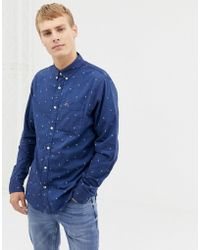 7c7f698e Icon Logo Button Down Oxford Shirt Slim Fit In White. £29. ASOS · Hollister  - Long Sleeve Oxford Shirt - Lyst