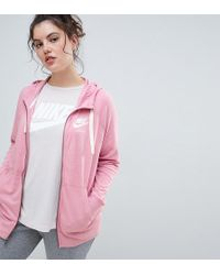 Nike - Plus Gym Vintage Full Zip Hoodie In Pink - Lyst