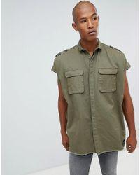 Sixth June - Sleeveless Oversized Shirt - Lyst