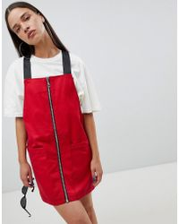 The Ragged Priest - Pinafore Dress With Zip Front - Lyst