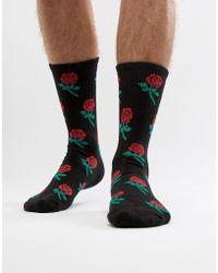 Pull&Bear - Rose Pattern Sock - Lyst