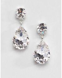 Krystal London - Swarovski Crystal Drop Earrings In Clear - Lyst
