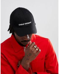 Cheap Monday - Logo Baseball Cap Black - Lyst