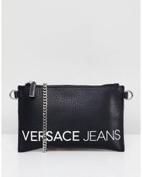 Versace Jeans - Contrast Logo Clutch Bag - Lyst