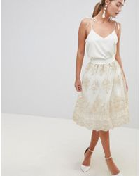 Chi Chi London - Midi Skirt In Premium Lace - Lyst