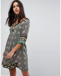 Raga - Elena Printed Tunic Dress - Lyst