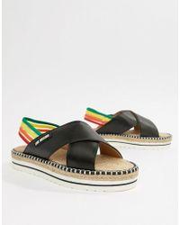 Love Moschino - Rainbow Flat Sandals - Lyst