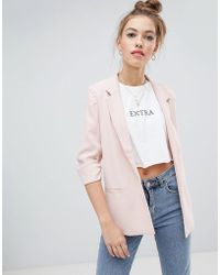 Soaked In Luxury - Gathered Sleeve Blazer - Lyst