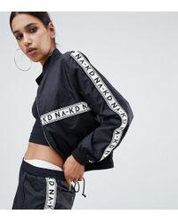 NA-KD - Co-ord Logo Track Jacket In Black - Lyst