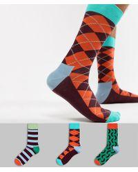 Happy Socks - Hs By Socks 3 Pack - Lyst