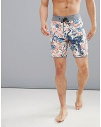 714055d337 ... Metallic Rainbow Colour In Super Short Length. $35. ASOS · Quiksilver -  Highline Silver Fur Swim Shorts In Mutli Print - Lyst