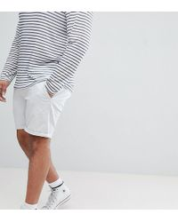 ASOS DESIGN - Plus Slim Chino Shorts In Ice Grey - Lyst