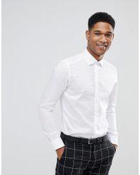 Reiss - Slim Smart Shirt In White - Lyst