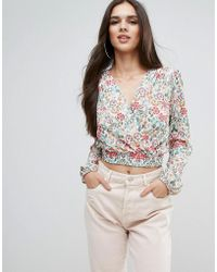 Love | Wrap Over Cropped Top | Lyst