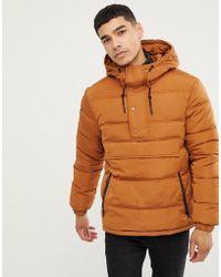 Esprit - Half Zip Overhead Hooded Puffer Jacket - Lyst