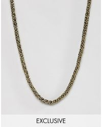 Reclaimed (vintage) - Chain In Burnished Gold - Lyst
