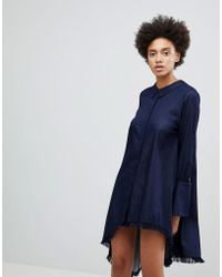 N12H - Early On Asymettric Shirt Dress - Lyst