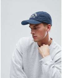 Abercrombie & Fitch - Twill Baseball Cap F Applique In Navy - Lyst