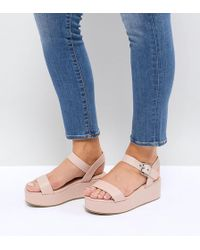 ASOS - Toucan Wide Fit Wedge Sandals - Lyst