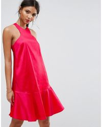 Y.A.S - Studio Dress With Fluted Hem - Lyst