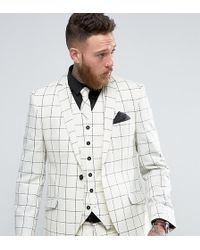 Heart & Dagger - Skinny Suit Jacket In Wool Check - Lyst