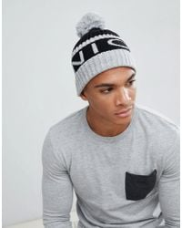 668ffb930cf4f The North Face Tuke Bobble Beanie Logo Diamond In Black in Black for ...