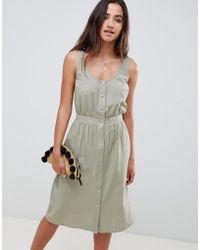 ASOS - Casual Popper Midi Dress - Lyst