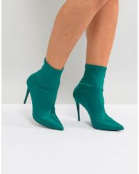 ALDO - Cirelle Pull On Sock Boot In Emerald Green - Lyst