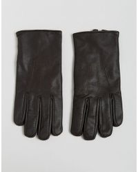 French Connection - Classic Leather Glove Brown - Lyst